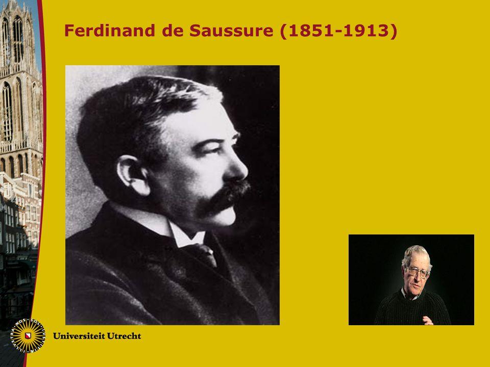 Ferdinand de Saussure (1851-1913)
