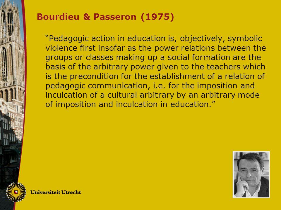 Bourdieu & Passeron (1975)