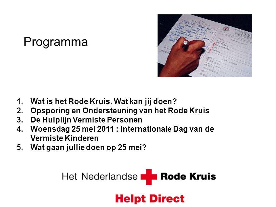 Programma Wat is het Rode Kruis. Wat kan jij doen