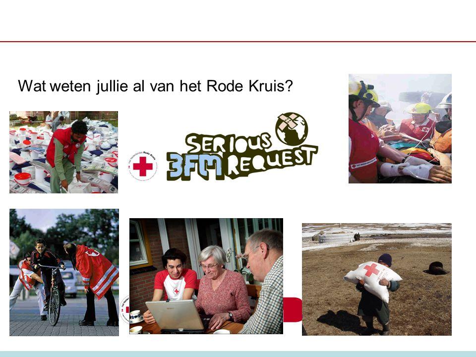Wat weten jullie al van het Rode Kruis