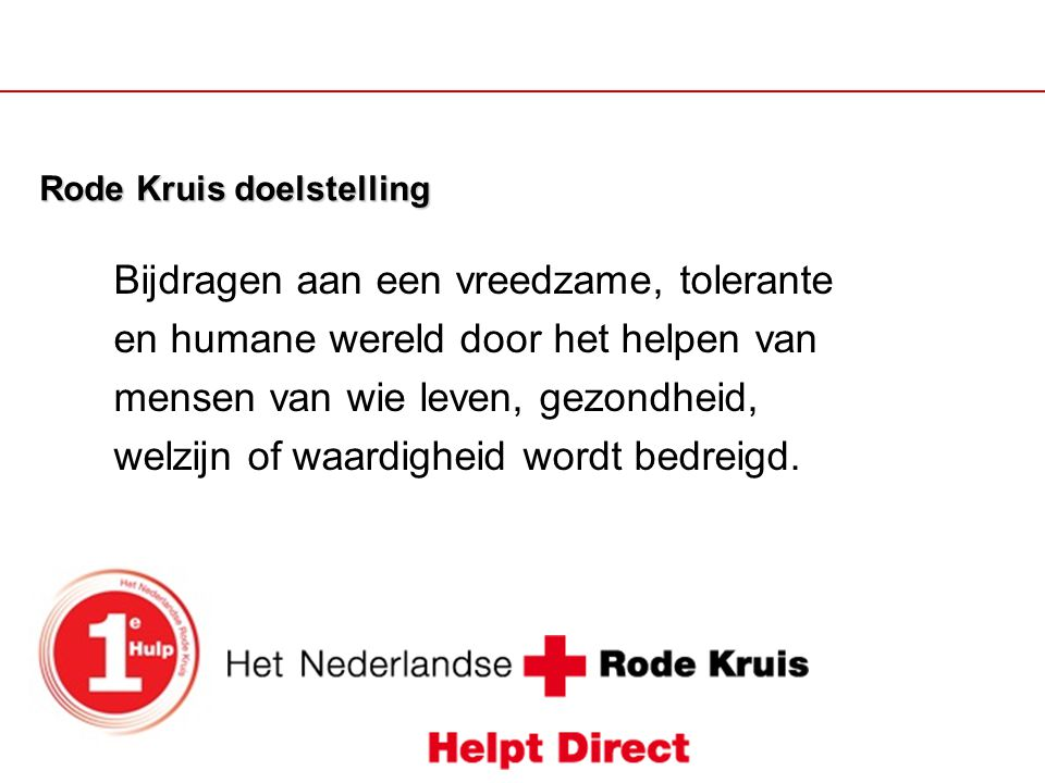 Rode Kruis doelstelling