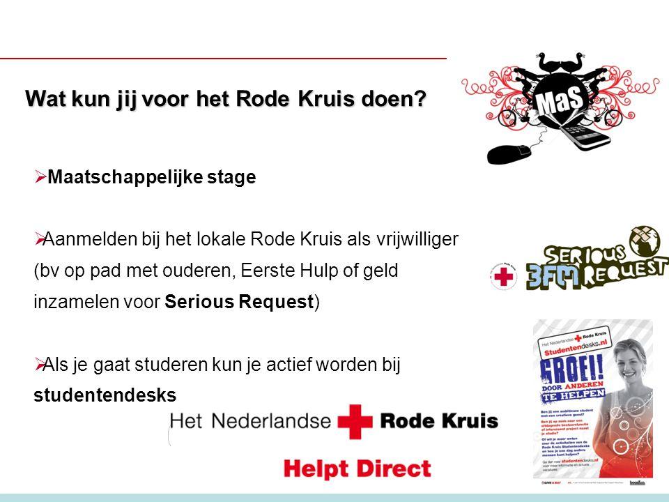 Wat kun jij voor het Rode Kruis doen