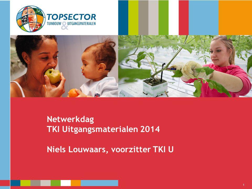 Netwerkdag TKI Uitgangsmaterialen 2014 Niels Louwaars, voorzitter TKI U