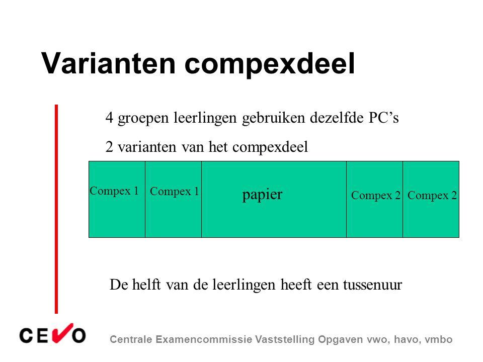 Varianten compexdeel 4 groepen leerlingen gebruiken dezelfde PC's