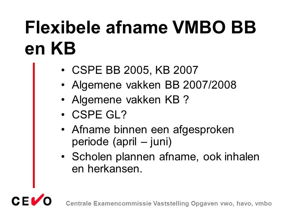 Flexibele afname VMBO BB en KB