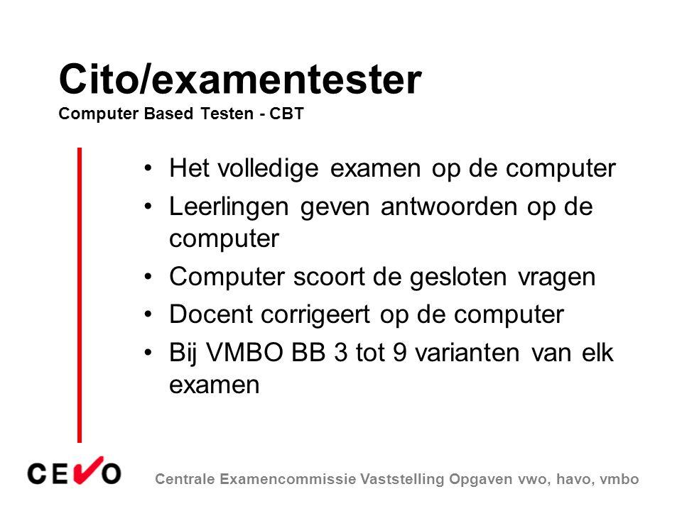 Cito/examentester Computer Based Testen - CBT