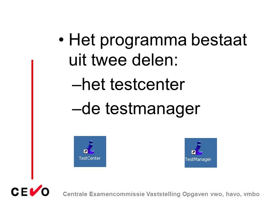 Het programma bestaat uit twee delen: