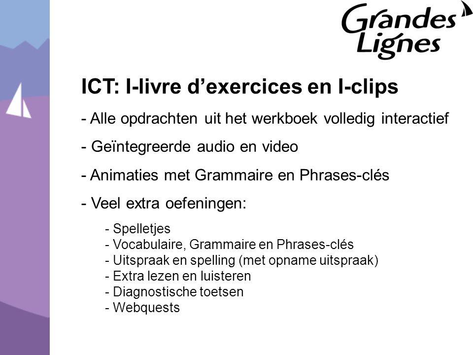 ICT: I-livre d'exercices en I-clips