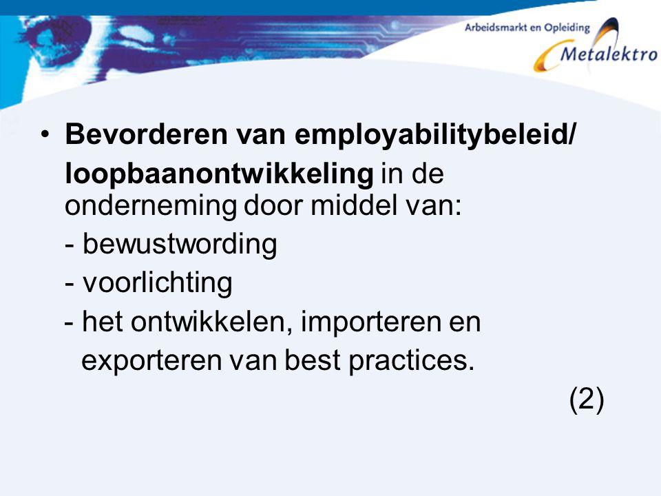 Bevorderen van employabilitybeleid/