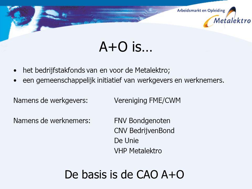 A+O is… De basis is de CAO A+O