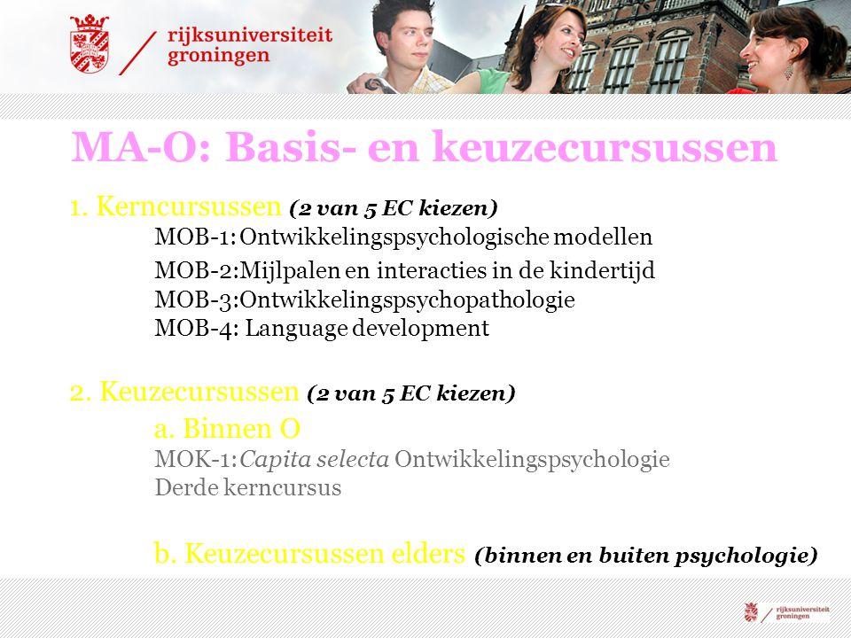 MA-O: Basis- en keuzecursussen