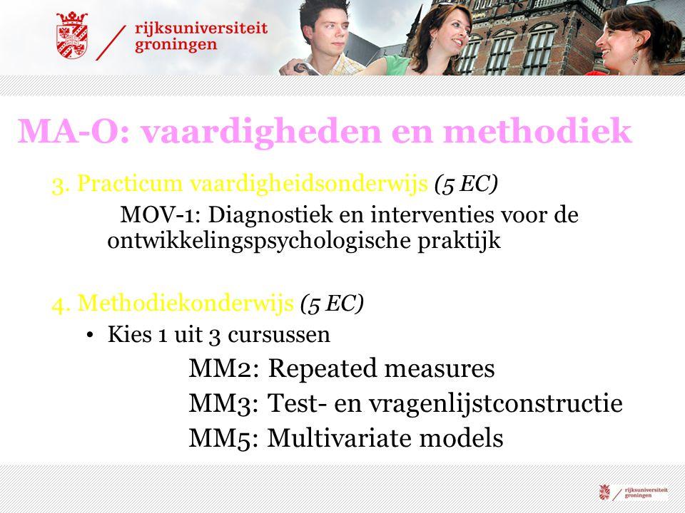 MA-O: vaardigheden en methodiek