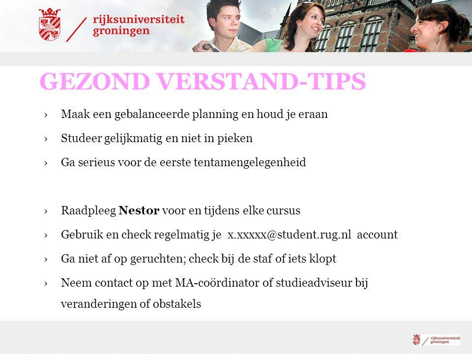 GEZOND VERSTAND-TIPS Maak een gebalanceerde planning en houd je eraan