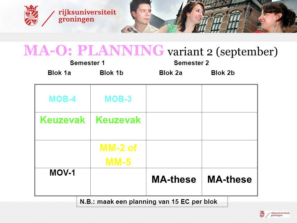 MA-O: PLANNING variant 2 (september)