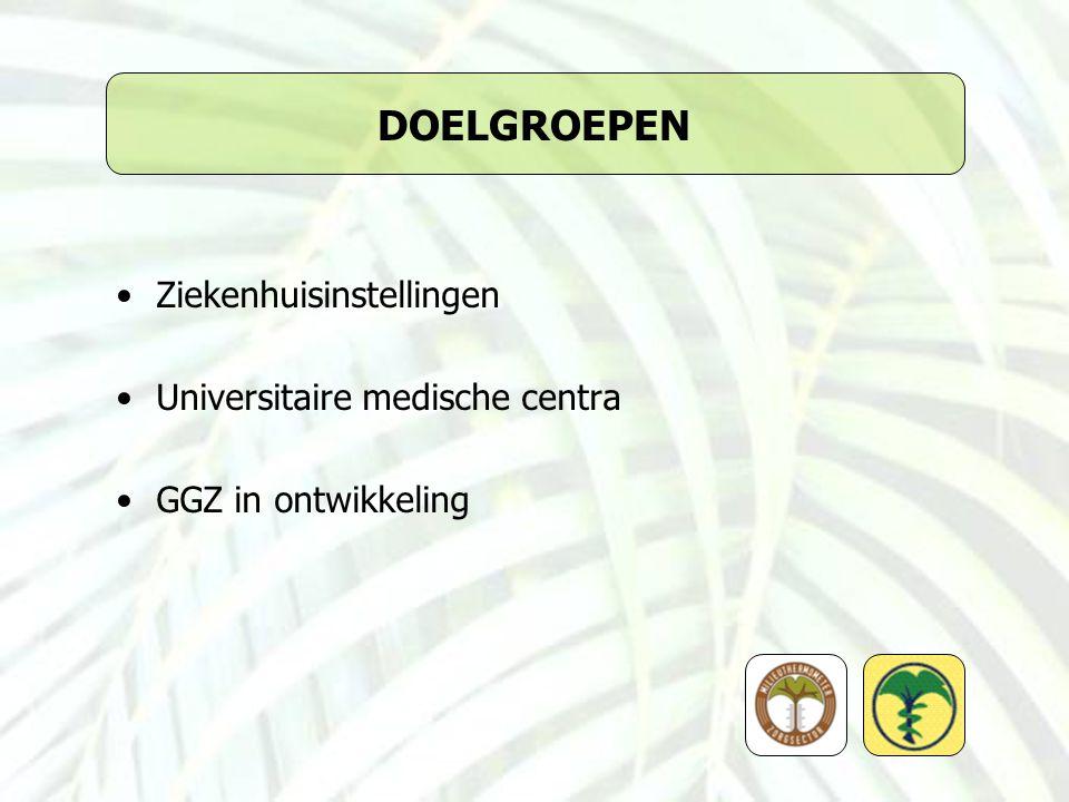 DOELGROEPEN Ziekenhuisinstellingen Universitaire medische centra