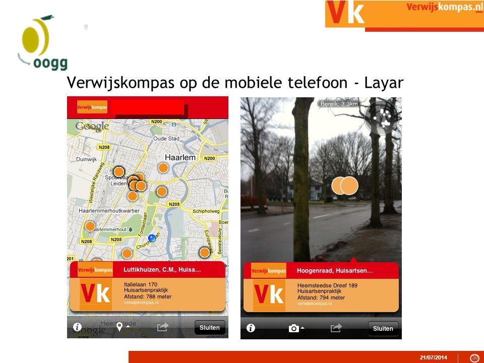 Verwijskompas op de mobiele telefoon - Layar