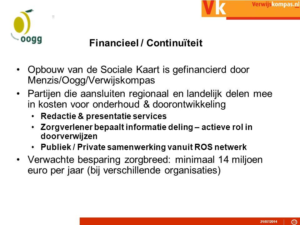 Financieel / Continuïteit