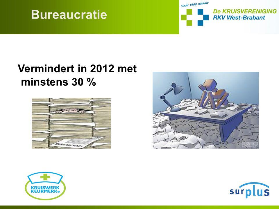 Bureaucratie Vermindert in 2012 met minstens 30 %