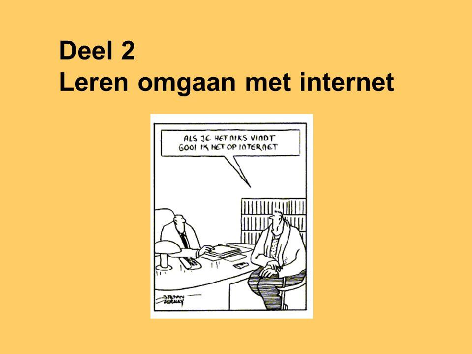 Deel 2 Leren omgaan met internet