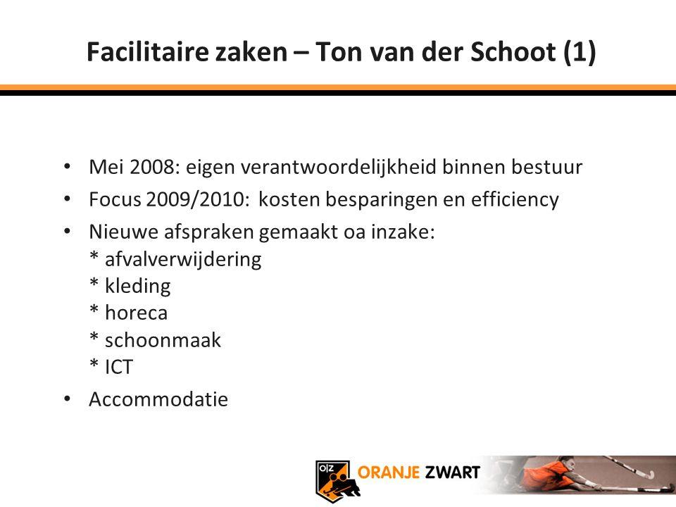 Facilitaire zaken – Ton van der Schoot (1)