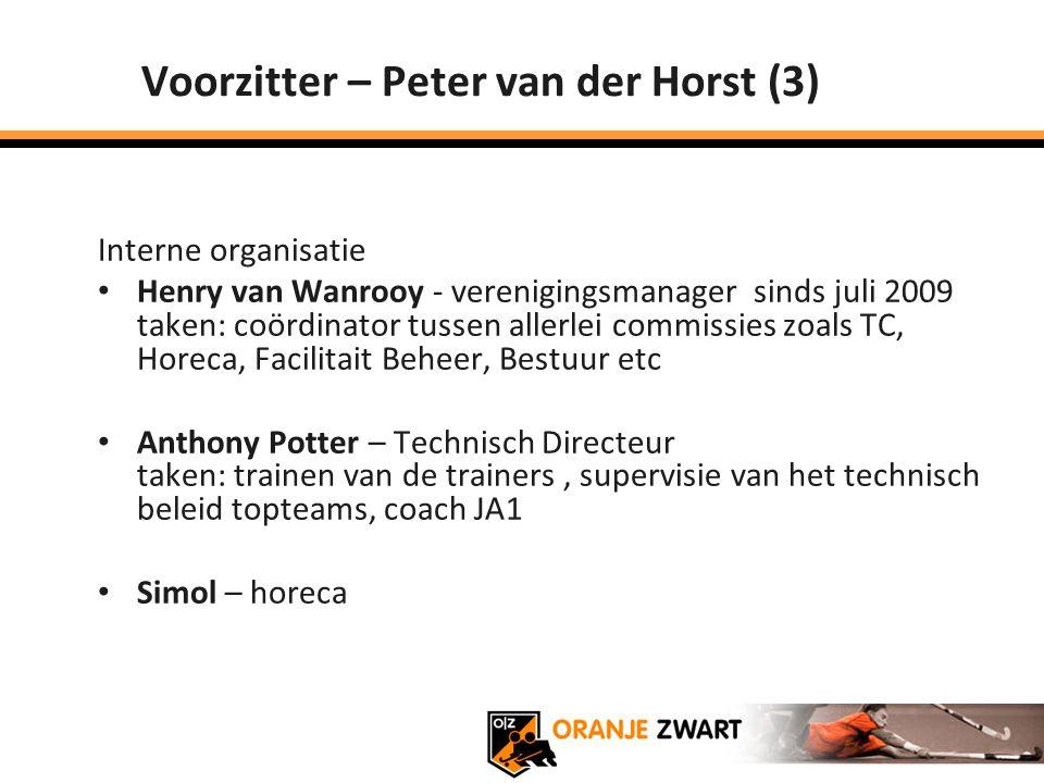 Voorzitter – Peter van der Horst (3)