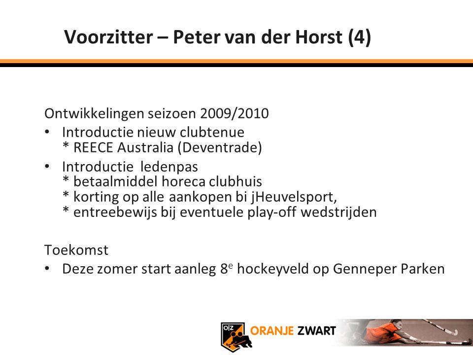 Voorzitter – Peter van der Horst (4)