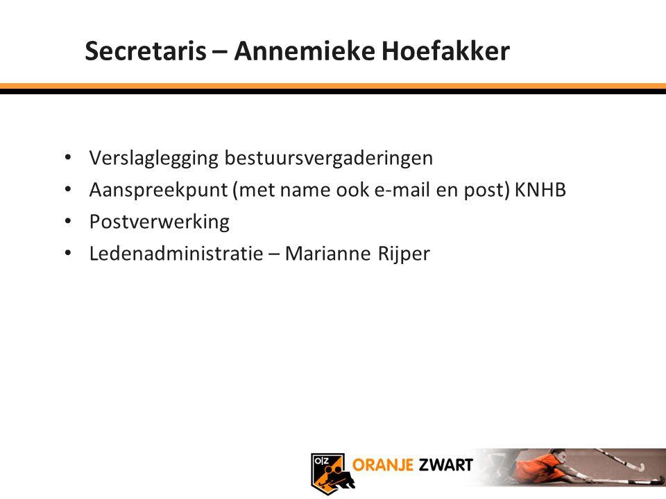 Secretaris – Annemieke Hoefakker