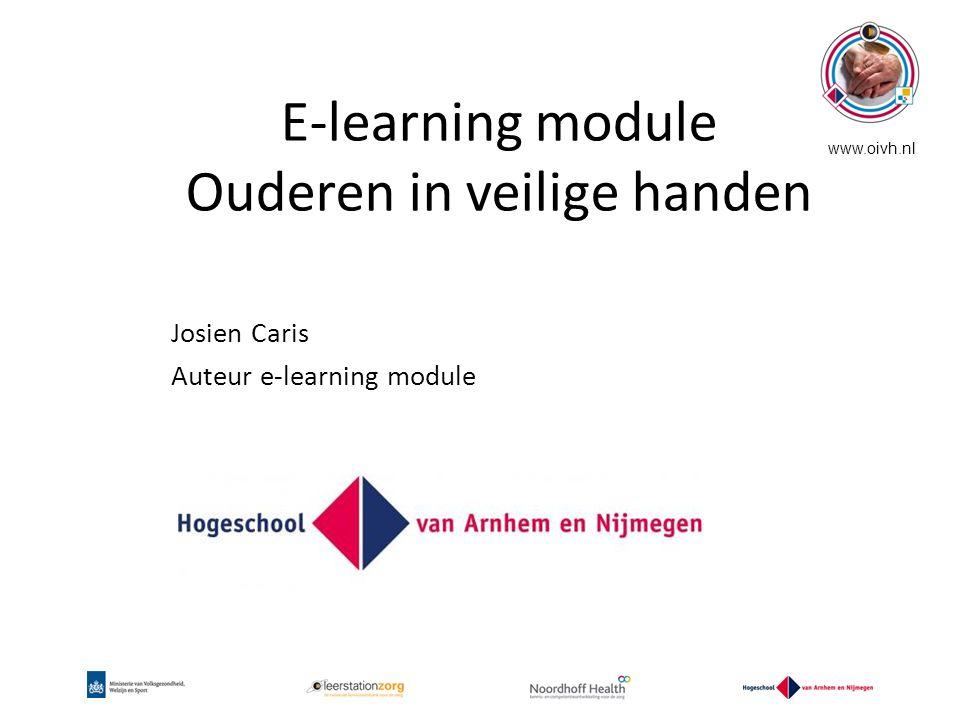 E-learning module Ouderen in veilige handen
