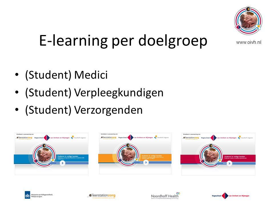 E-learning per doelgroep