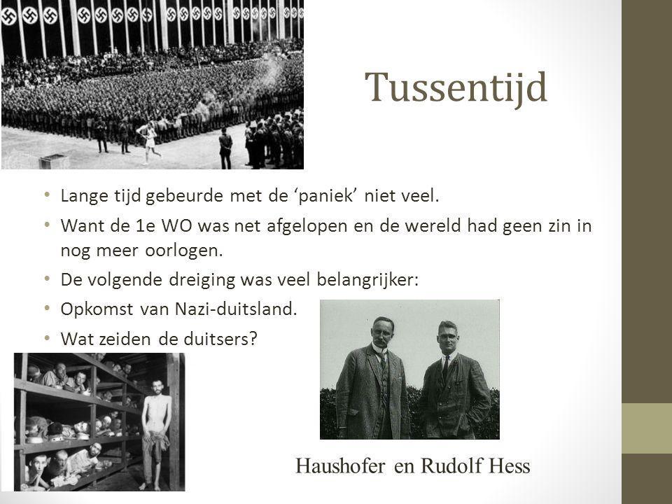 Tussentijd Haushofer en Rudolf Hess