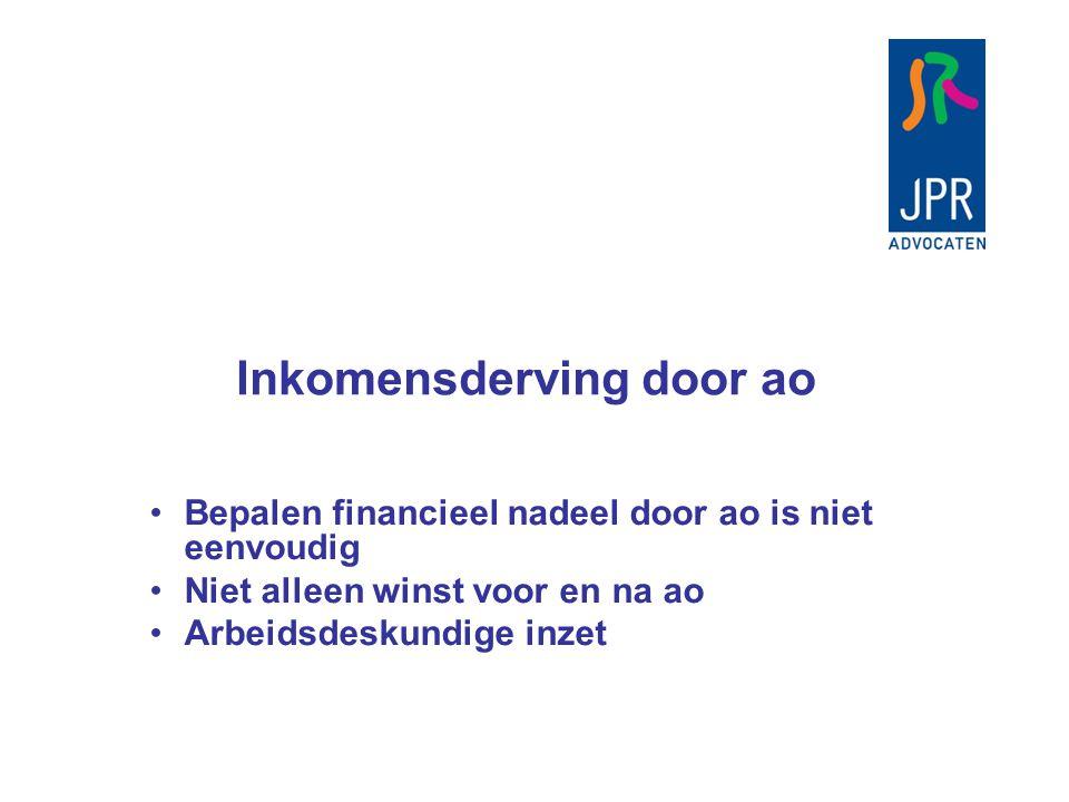 Inkomensderving door ao