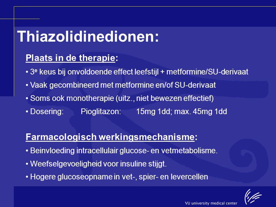 Thiazolidinedionen: Plaats in de therapie: