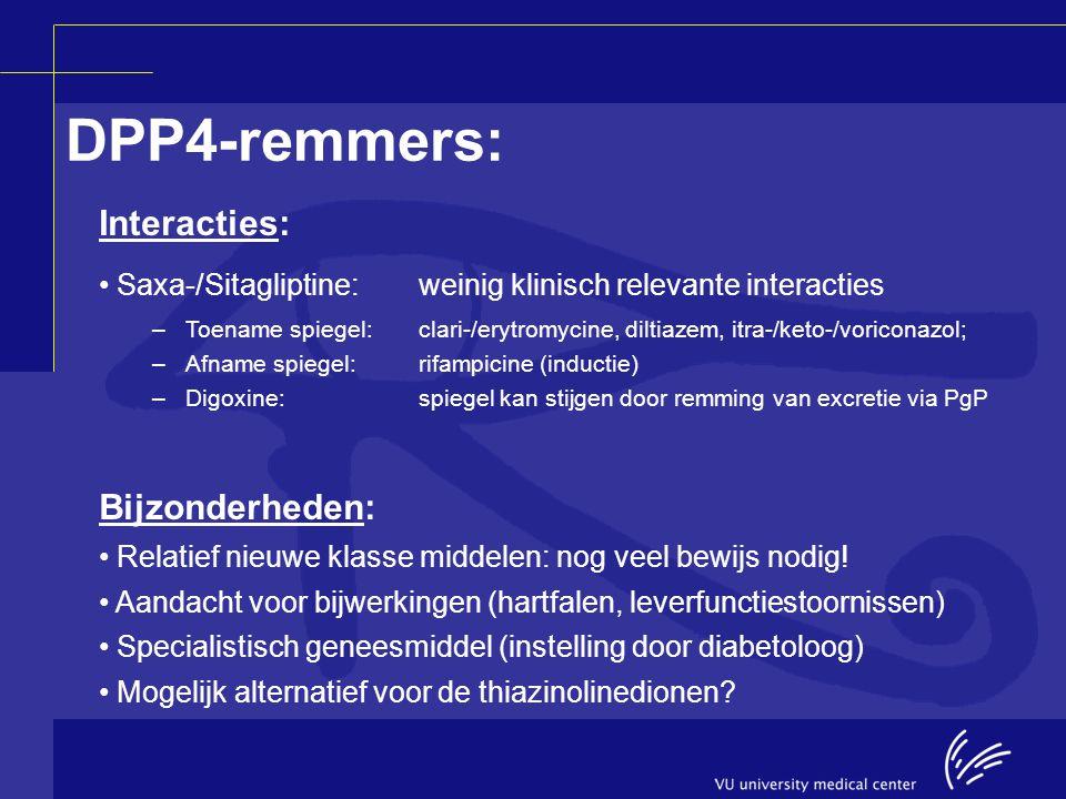 DPP4-remmers: Interacties: Bijzonderheden: