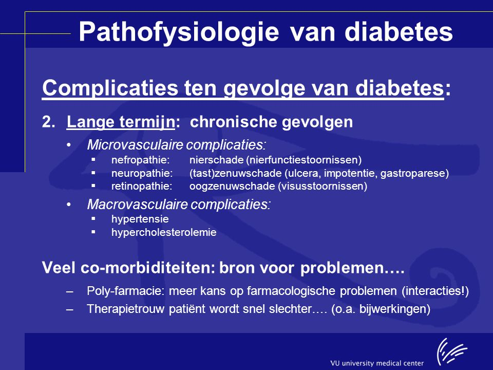 Pathofysiologie van diabetes