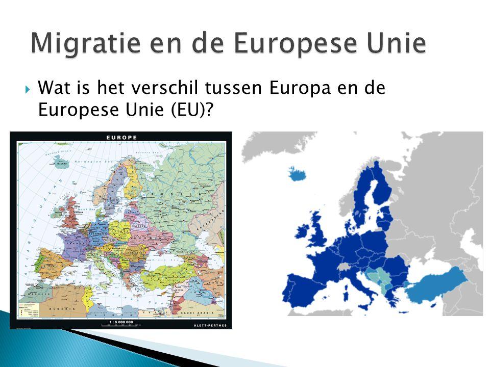 Migratie en de Europese Unie