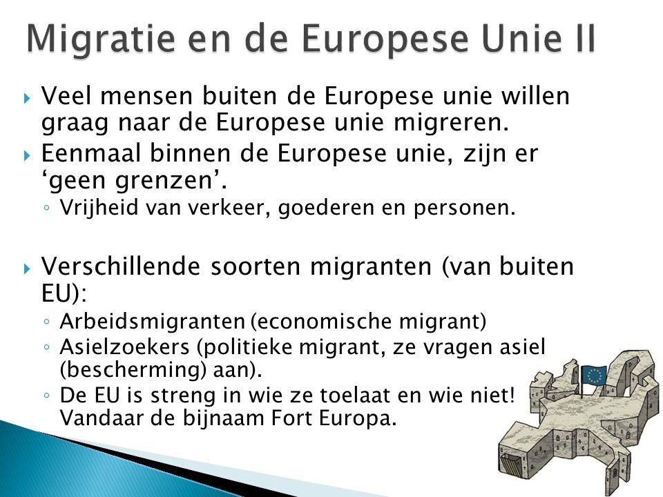 Migratie en de Europese Unie II