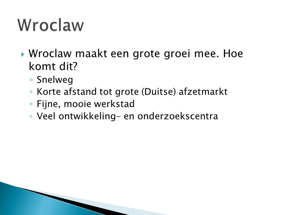 Wroclaw Wroclaw maakt een grote groei mee. Hoe komt dit Snelweg