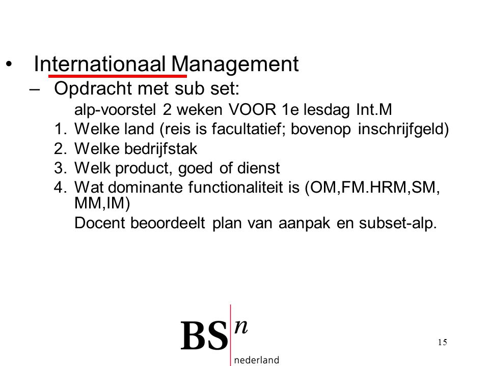 Internationaal Management