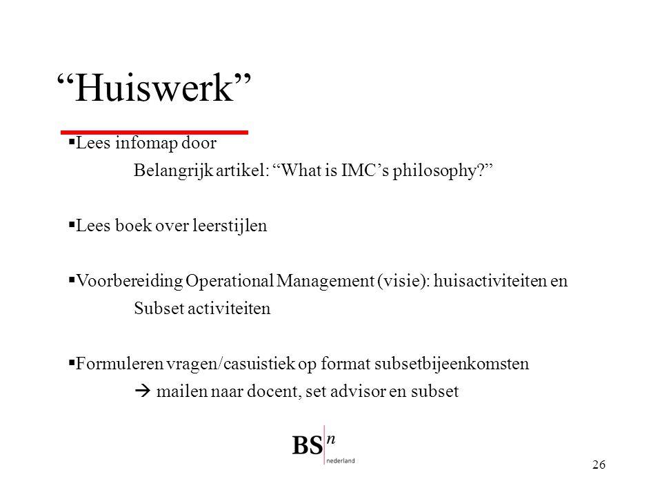 Huiswerk Lees infomap door