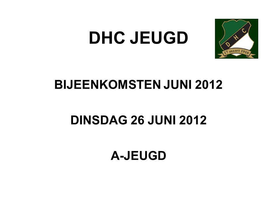 BIJEENKOMSTEN JUNI 2012 DINSDAG 26 JUNI 2012 A-JEUGD