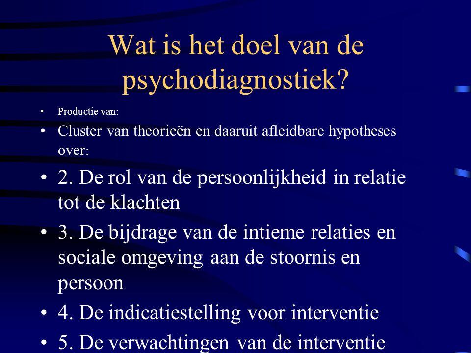 Wat is het doel van de psychodiagnostiek