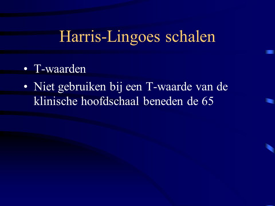 Harris-Lingoes schalen