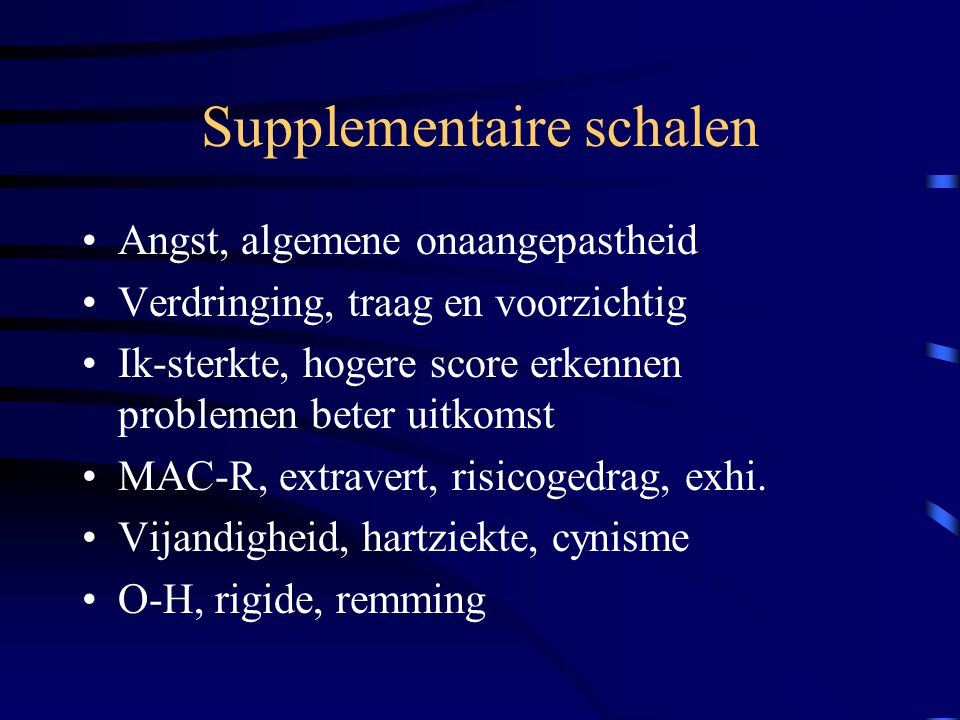 Supplementaire schalen