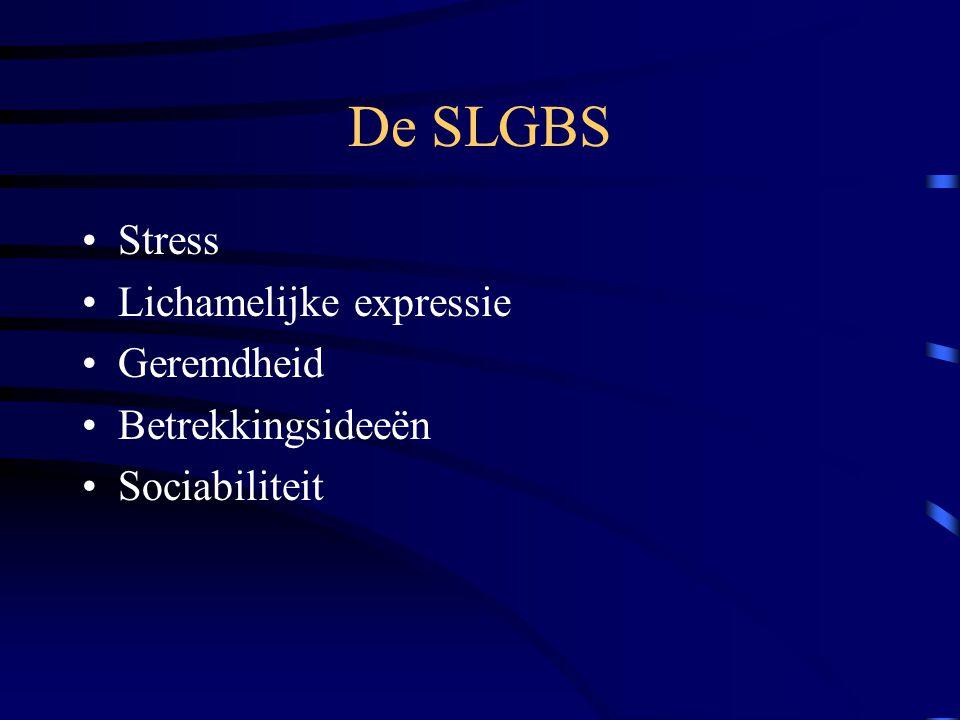 De SLGBS Stress Lichamelijke expressie Geremdheid Betrekkingsideeën