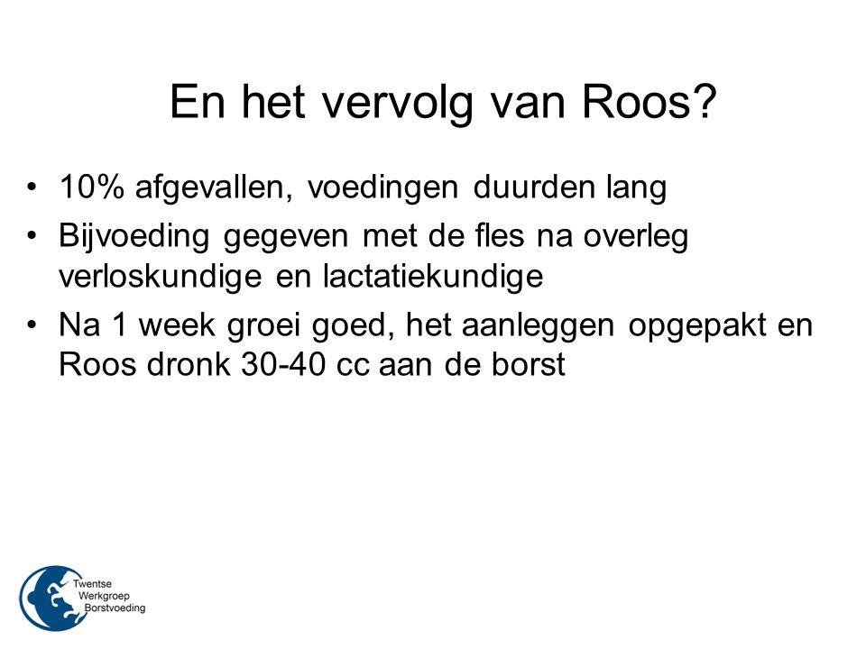 En het vervolg van Roos 10% afgevallen, voedingen duurden lang