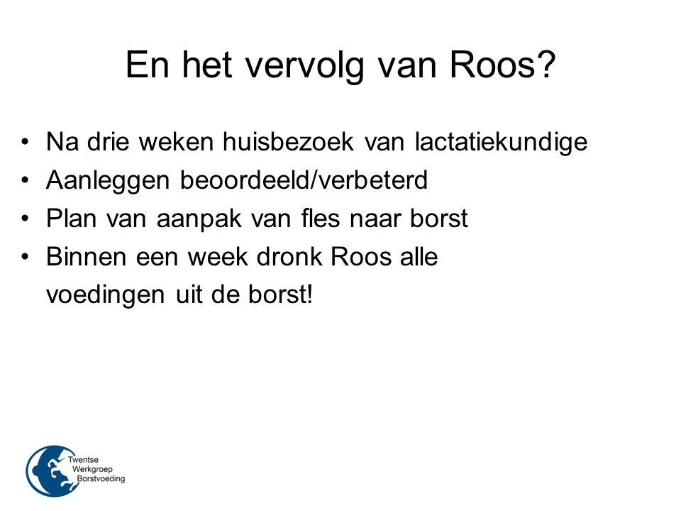En het vervolg van Roos Na drie weken huisbezoek van lactatiekundige