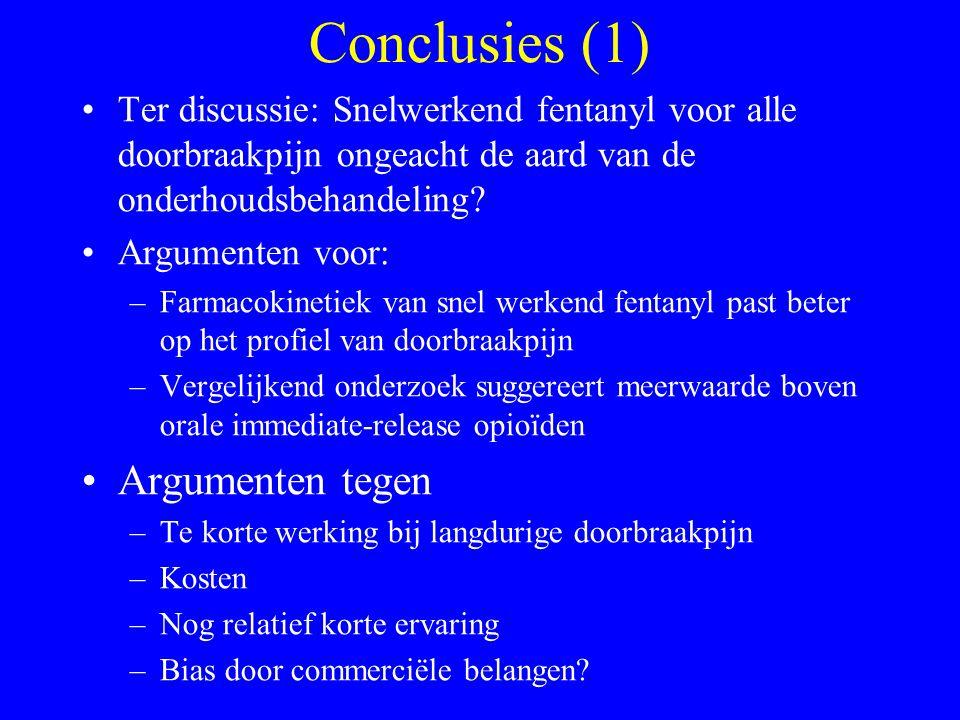 Conclusies (1) Argumenten tegen