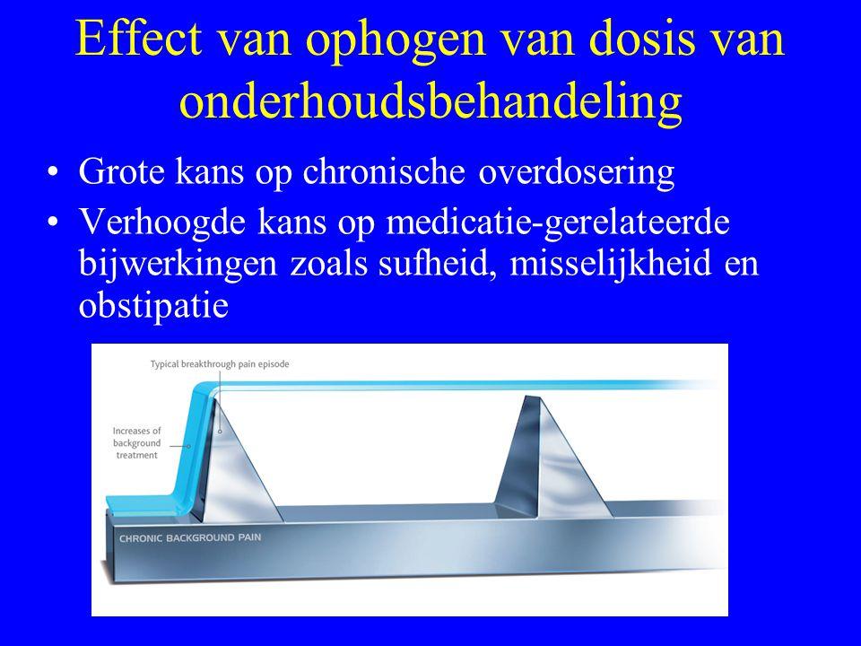 Effect van ophogen van dosis van onderhoudsbehandeling