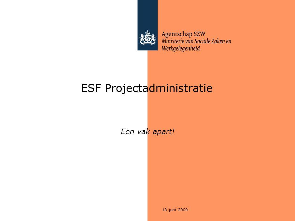 ESF Projectadministratie