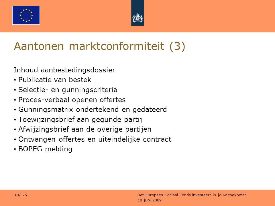Aantonen marktconformiteit (3)